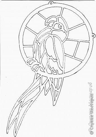 Зеленый попугай (подвеска). фото 8