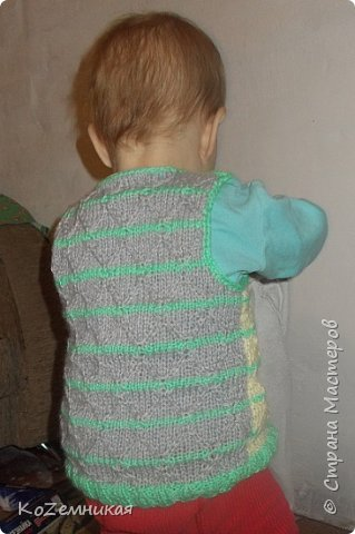 Вязалки. Детские жилеты и безрукавки фото 4