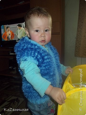 Вязалки. Детские жилеты и безрукавки фото 1