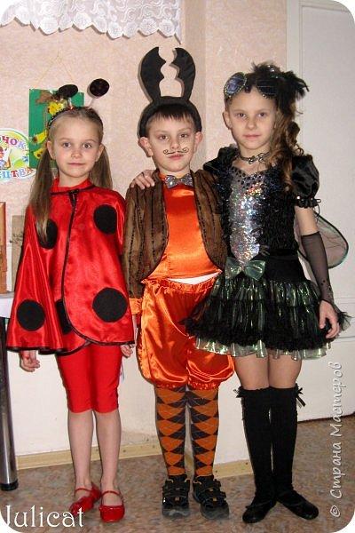 """Здравствуйте, уважаемые гости! Сегодня хочу показать Вам очередные мои костюмы на утренник для моей младшей доченьки шестилетней Катюши и ее друга Владика. Как Вы уже поняли - эта парочка - персонажи сказки """"Муха-Цокотуха"""" - Муха и Комар. Роли им попались очень символичные - ребят связывает дружба, ну, практически любовь, с самого рождения, а вернее еще до него))) Кстати, Комарик старше Мухи аж на 1 день - вот так бывает))) фото 6"""