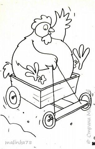 Вот такой рисунок у нас получился, где курочка раздает пасхальные яйца прямо на ходу. фото 3