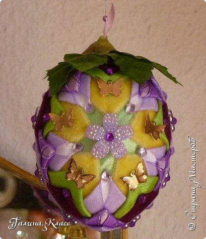Три яйца с разными бабочками из металла: фото 4