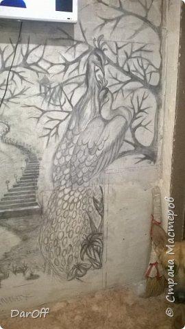 Видео Интерьер Мастер-класс Боже как же долго   - Моя новая кухня - Часть щестая - Объемная картина на стене Павлины в  лесу   фото 3