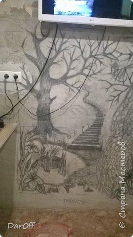Видео Интерьер Мастер-класс Боже как же долго   - Моя новая кухня - Часть щестая - Объемная картина на стене Павлины в  лесу   фото 5