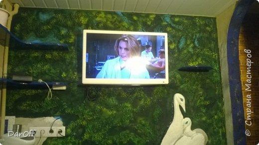 Видео Интерьер Мастер-класс Боже как же долго   - Моя новая кухня - Часть щестая - Объемная картина на стене Павлины в  лесу   фото 32