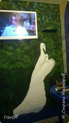 Видео Интерьер Мастер-класс Боже как же долго   - Моя новая кухня - Часть щестая - Объемная картина на стене Павлины в  лесу   фото 34