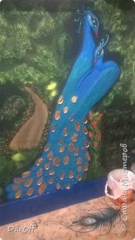 Видео Интерьер Мастер-класс Боже как же долго   - Моя новая кухня - Часть щестая - Объемная картина на стене Павлины в  лесу   фото 42