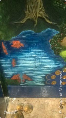 Видео Интерьер Мастер-класс Боже как же долго   - Моя новая кухня - Часть щестая - Объемная картина на стене Павлины в  лесу   фото 44