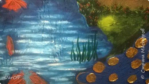Видео Интерьер Мастер-класс Боже как же долго   - Моя новая кухня - Часть щестая - Объемная картина на стене Павлины в  лесу   фото 45