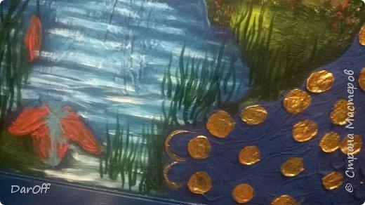 Видео Интерьер Мастер-класс Боже как же долго   - Моя новая кухня - Часть щестая - Объемная картина на стене Павлины в  лесу   фото 46