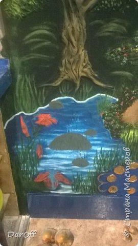 Видео Интерьер Мастер-класс Боже как же долго   - Моя новая кухня - Часть щестая - Объемная картина на стене Павлины в  лесу   фото 47