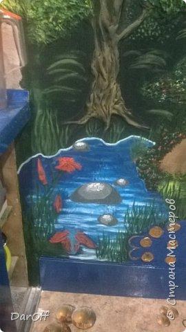 Видео Интерьер Мастер-класс Боже как же долго   - Моя новая кухня - Часть щестая - Объемная картина на стене Павлины в  лесу   фото 48
