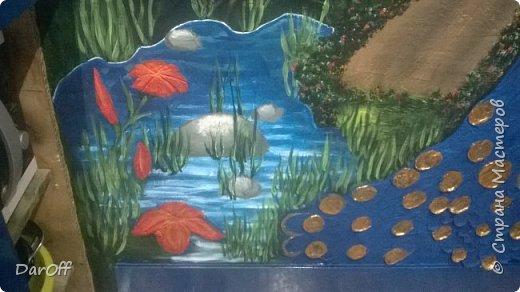 Видео Интерьер Мастер-класс Боже как же долго   - Моя новая кухня - Часть щестая - Объемная картина на стене Павлины в  лесу   фото 49
