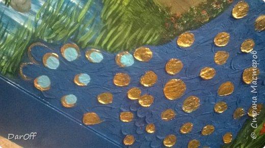 Видео Интерьер Мастер-класс Боже как же долго   - Моя новая кухня - Часть щестая - Объемная картина на стене Павлины в  лесу   фото 50