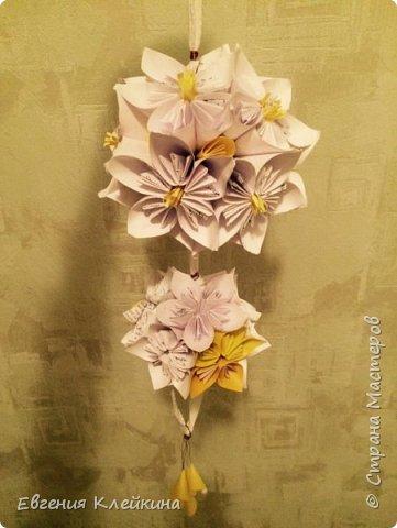 Здравствуйте, хочу вам предложить свою версию кусудамы, как украшение для интерьера. фото 31
