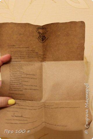 Ещё перед Новым годом я делала друзьям вот такие подарочки. Это письма из Хогвартса, как в книге, с точно таким же содержанием. фото 5