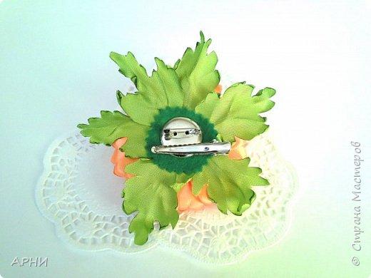 Хризантема из лент фото 3