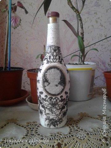 декупаж бутылочек фото 5
