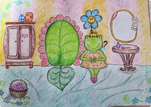 """Всем здравствуйте! Наконец то дорисовался домик, который я пообещала дочке еще года два назад, начала рисовать и забросила... Всё надеялась его доделать, но не было никаго вдохновения для него, а недавно вот решила таки его """"добить"""", чтоб глаза не мозолил, да и обещания нужно сдерживать :) фото 4"""