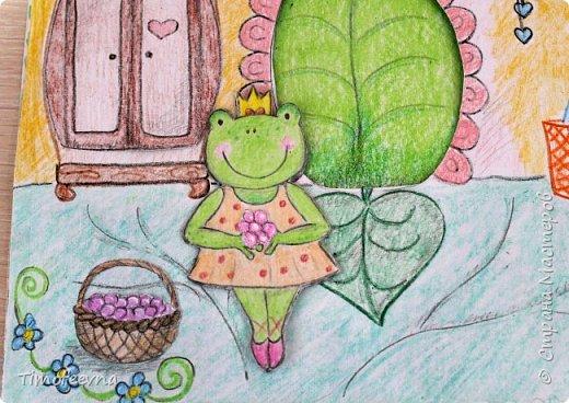 """Всем здравствуйте! Наконец то дорисовался домик, который я пообещала дочке еще года два назад, начала рисовать и забросила... Всё надеялась его доделать, но не было никаго вдохновения для него, а недавно вот решила таки его """"добить"""", чтоб глаза не мозолил, да и обещания нужно сдерживать :) фото 5"""