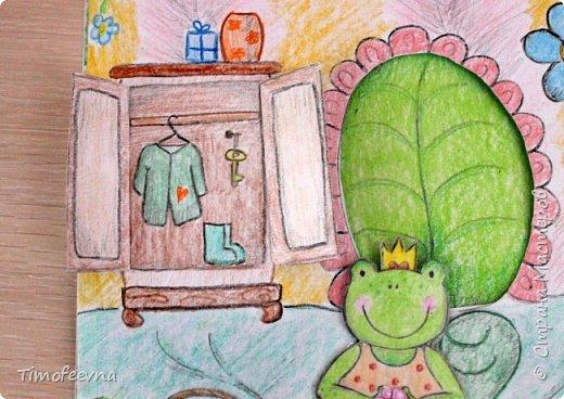 """Всем здравствуйте! Наконец то дорисовался домик, который я пообещала дочке еще года два назад, начала рисовать и забросила... Всё надеялась его доделать, но не было никаго вдохновения для него, а недавно вот решила таки его """"добить"""", чтоб глаза не мозолил, да и обещания нужно сдерживать :) фото 6"""