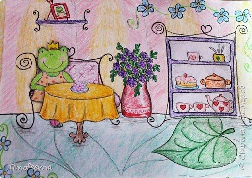 """Всем здравствуйте! Наконец то дорисовался домик, который я пообещала дочке еще года два назад, начала рисовать и забросила... Всё надеялась его доделать, но не было никаго вдохновения для него, а недавно вот решила таки его """"добить"""", чтоб глаза не мозолил, да и обещания нужно сдерживать :) фото 7"""