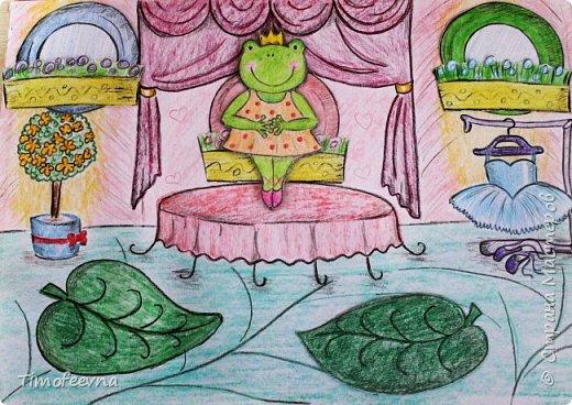 """Всем здравствуйте! Наконец то дорисовался домик, который я пообещала дочке еще года два назад, начала рисовать и забросила... Всё надеялась его доделать, но не было никаго вдохновения для него, а недавно вот решила таки его """"добить"""", чтоб глаза не мозолил, да и обещания нужно сдерживать :) фото 9"""