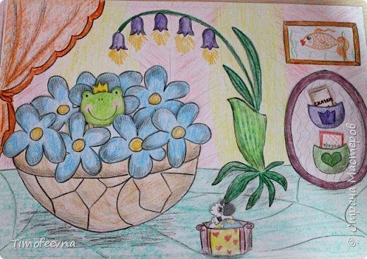 """Всем здравствуйте! Наконец то дорисовался домик, который я пообещала дочке еще года два назад, начала рисовать и забросила... Всё надеялась его доделать, но не было никаго вдохновения для него, а недавно вот решила таки его """"добить"""", чтоб глаза не мозолил, да и обещания нужно сдерживать :) фото 11"""