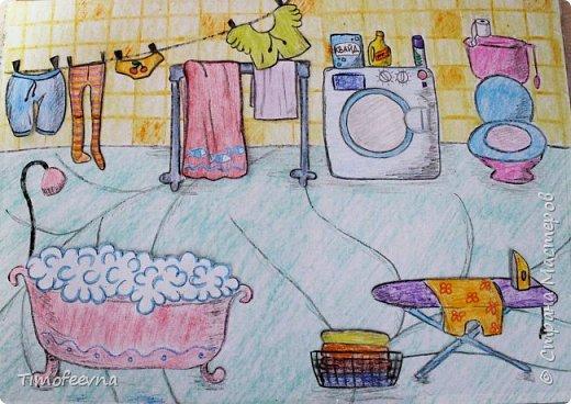 """Всем здравствуйте! Наконец то дорисовался домик, который я пообещала дочке еще года два назад, начала рисовать и забросила... Всё надеялась его доделать, но не было никаго вдохновения для него, а недавно вот решила таки его """"добить"""", чтоб глаза не мозолил, да и обещания нужно сдерживать :) фото 15"""