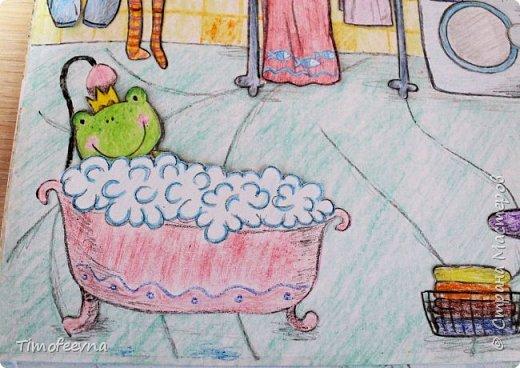 """Всем здравствуйте! Наконец то дорисовался домик, который я пообещала дочке еще года два назад, начала рисовать и забросила... Всё надеялась его доделать, но не было никаго вдохновения для него, а недавно вот решила таки его """"добить"""", чтоб глаза не мозолил, да и обещания нужно сдерживать :) фото 16"""