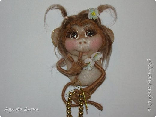 Игрушка Шитьё Обезьянки -магниты на холодильник Капрон Картон фото 7