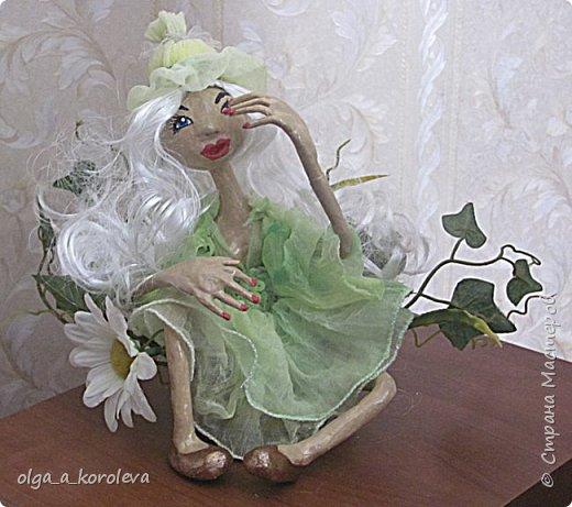 Кукла из папье-маше на проволочном каркасе