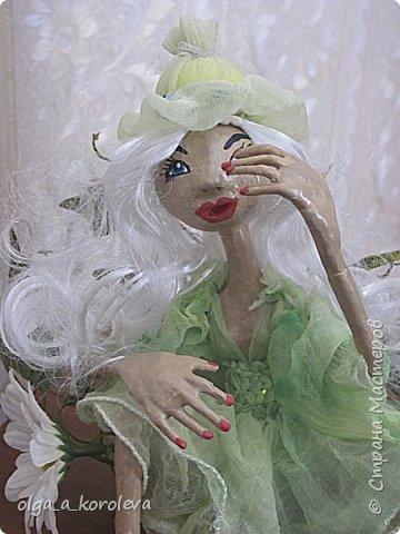 Кукла из папье-маше на проволочном каркасе фото 2