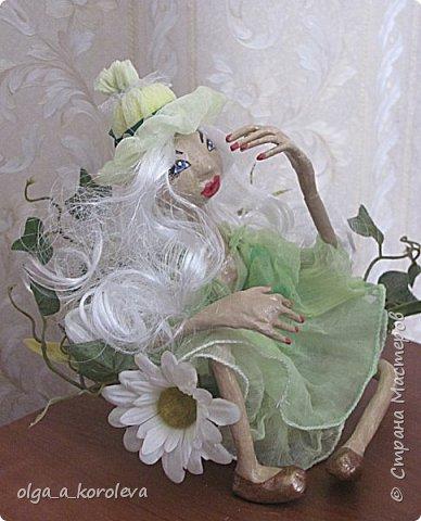 Кукла из папье-маше на проволочном каркасе фото 3