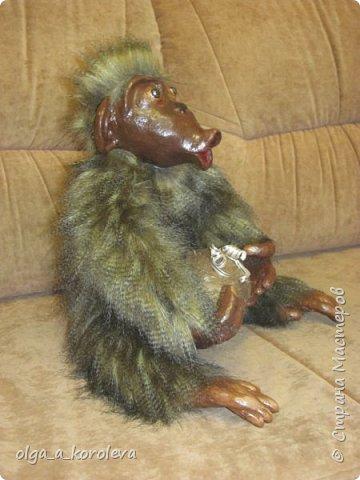 Вот такая слепилась обезьянка с настоящим кокосовым орехом! фото 4