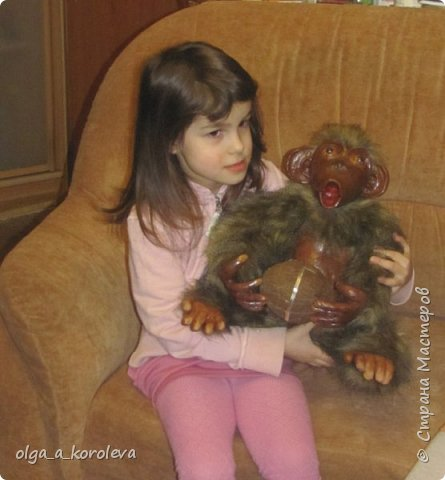 Вот такая слепилась обезьянка с настоящим кокосовым орехом! фото 5