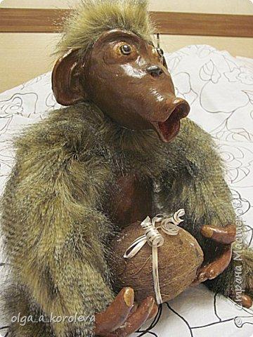 Вот такая слепилась обезьянка с настоящим кокосовым орехом! фото 2