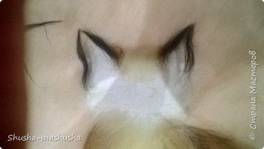 Шерстяная живопись. Кошка Бася. Поэтапность работы фото 10