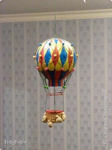 Воздушный шар с корзиной из папье-маше своими руками