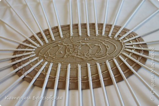 Мастер-класс Плетение МК по обтягиванию картона тканью Картон Клей Ткань фото 25