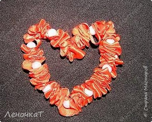 МК сердца из  атласной ленты фото 1