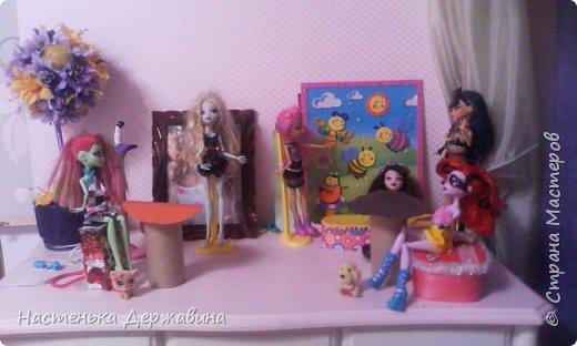 я сделала кафе для своих кукол монстр хай.с самадельными столиками фото 1