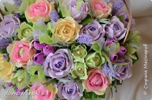"""Привет Страна ! Я к вам на """"лисапеде"""" сегодня приехала .  Заказ на день рождения-велосипед-кашпо с цветочками...все бы хорошо, о только это мальчику на 18 лет...розы отпали сразу, накрутила ромашек...они тоже отпали...остались только """"мужские"""" цветочки : василеК, подсолнуХ и лютиК(ну это я так думаю, что это лютик), Дашуля мне еще колокольчик подсказывала, очень бы с ним наверное хорошо было, но сроки... фото 12"""