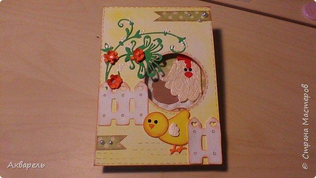 Первая партия открыток к Пасхе. Как всегда аккуратненько и по детски. Ну что же, наверное это мой стиль. фото 6