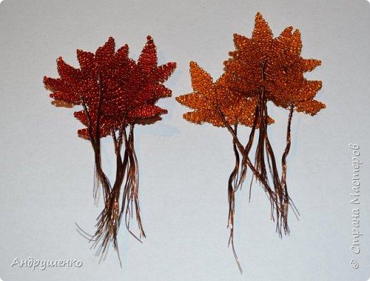 Доброго времени суток. Хочу показать Вам, как я делала Осенний клен. Высота дерева 20 см. фото 8