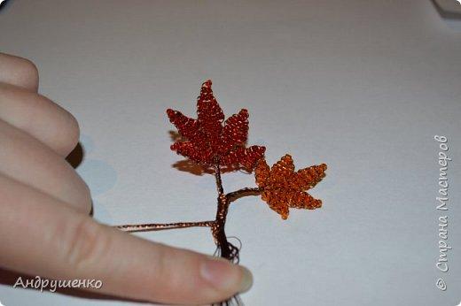 Доброго времени суток. Хочу показать Вам, как я делала Осенний клен. Высота дерева 20 см. фото 16