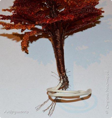 Доброго времени суток. Хочу показать Вам, как я делала Осенний клен. Высота дерева 20 см. фото 21