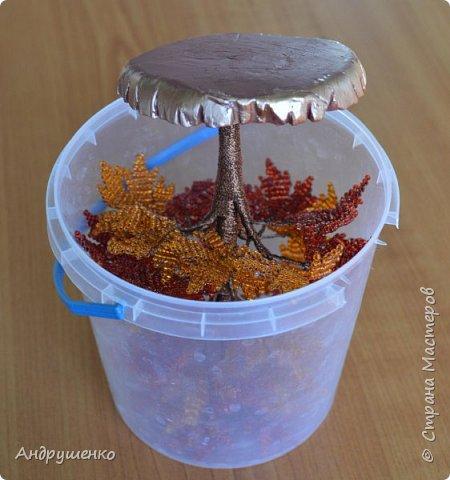 Доброго времени суток. Хочу показать Вам, как я делала Осенний клен. Высота дерева 20 см. фото 33