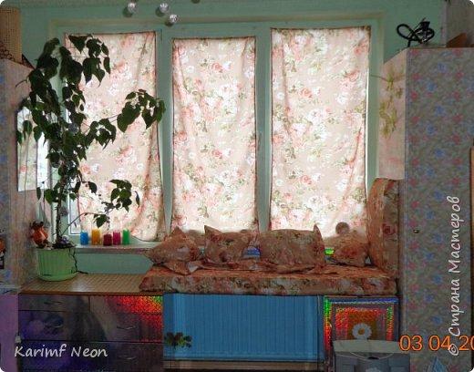 """Давно хотел немного закруглить окно. Мне очень нравится такие окна. Пластиковые декоративные панели ПВХ просто супер находка для подобных переделок. На окно ушло три штуки (95см х 47см). На ценнике было написано """"Кирпич пиленый коричневый"""". Если бы я  оклеивал и боковые части окна, то ушло бы больше трёх штук, но у меня по краям окна стоят половинки шкафа. фото 1"""
