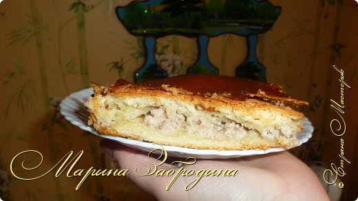 Кулинария Мастер-класс Рецепт кулинарный Пирог с мясной начинкой Продукты пищевые фото 12